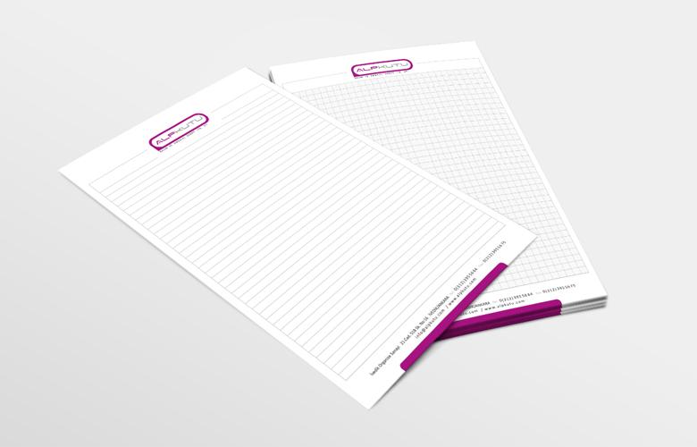 alp kutu tasarım not kağıdı tasarımı