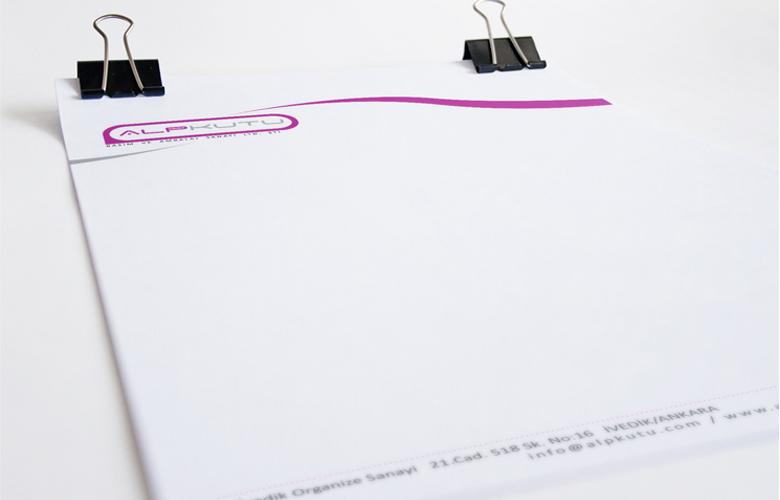 alp kutu tasarım antetli kağıt tasarımı